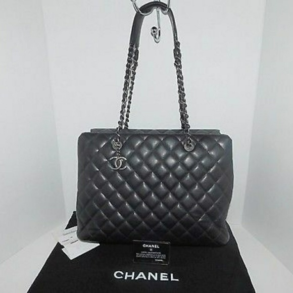 cdcf3cd9ea33 CHANEL Bags | Quilted Black Caviar Large Tote Bag | Poshmark